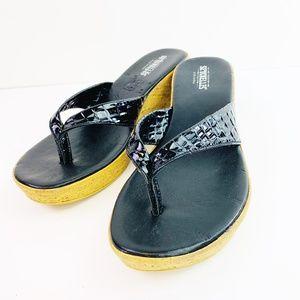 "Seychelles ""Santorini"" AJ2429 Black Sandals Size 6"